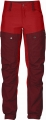 Keb Trousers W Short, kolor: 326/320 Deep Red/Ox Red.
