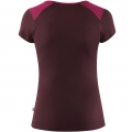 Keb Wool T-Shirt Print W, kolor: 420- 356 - Plum - Dark Garnet