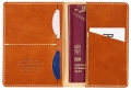 Leather Passport Cover, kolor: 249 - Leather Cognac